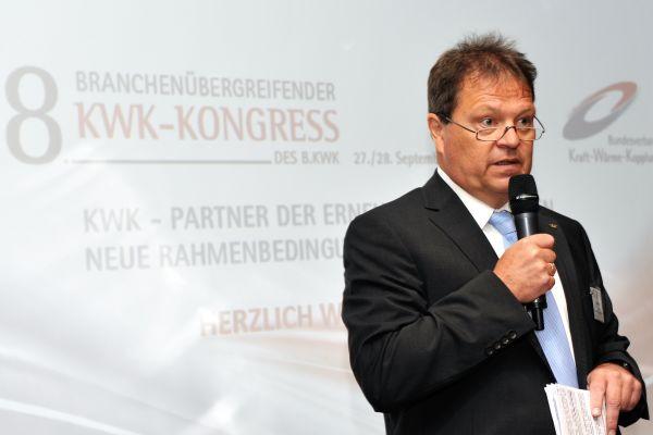 Hagen Fuhl, Vize-Präsident des B.KWK, auf dem KWK-Kongress.