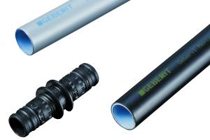 Das Trinkwasser-Installationsrohr-System Mepla von Geberit mit dem Inliner aus PE-Xb.