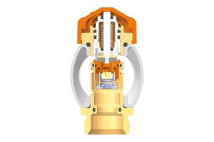 """Fußboden-Heizkreisverteiler mit der patentierten """"AFC""""-Technologie (""""AFC"""" = """"Automatic Flow Control"""") regeln die maximale Durchflussmenge gänzlich unabhängig von dem am Ventil anliegenden Differenzdruck."""