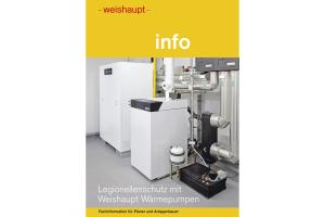 """Die Titelseite der Fachinformation """"Legionellenschutz mit Wärmepumpen""""."""