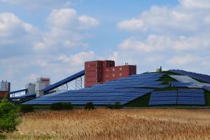 Eine Photovoltaik-Anlage.