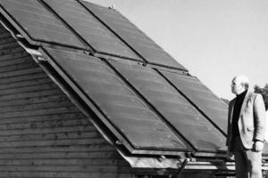 Alte Solarthermie-Anlage.