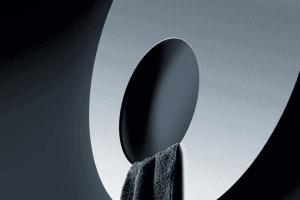 Videa präsentiert einen runden Handtuchwärmer aus Metall - ein designstarkes Badaccessoire.
