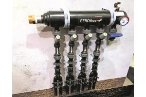 """Für die Installation von geothermischen Solekreisläufen werden vorwiegend Rohrsysteme aus Kunststoff eingesetzt. Das Abgleichventil """"TacoSetter Hyline"""" lässt sich durch G-Normgewinde in marktübliche Kunststoffrohrsysteme einbinden."""