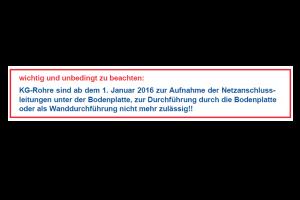 Hinweis auf der Webseite der Stadtwerke Hagenow.