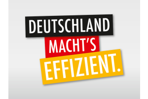 """Logo der Kampagne """"Deutschland macht's effizient""""."""