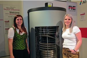 Der Hygienespeicher mit integriertem Edelstahlwellrohr der Austria Email GmbH ermöglicht es, Heizungswasser und Trinkwasser in ein und demselben Tank zu erwärmen.