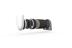 """Das Lüftungsgerät """"Smart Fan S"""" hat integrierte Messfühler (Temperatur, Feuchte) und reguliert seinen Betrieb entsprechend selbstständig."""