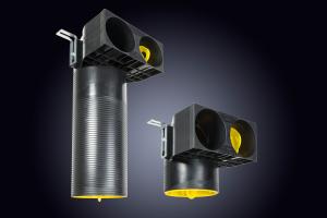 """Der """"profi air classic""""-Luftdurchlass """"plus"""" ist in den Nennweiten 75 und 90 mm sowie jeweils in einer langen und kurzen Ausführung verfügbar."""