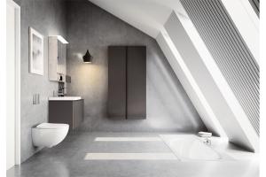 """Die neue Komplettbadserie """"Acanto"""" mit vielfältigen Kombinationen von Sanitärkeramik, Möbeln und Acrylprodukten"""