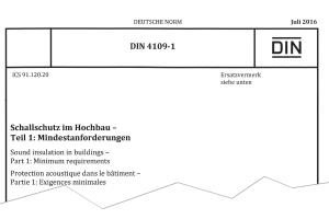 Titelseite DIN 4109-1, Ausgabe Juli 2016 6.
