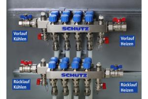Schema der Anschlüsse im 4-Leiter-System.