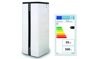 """Der Thermotank """"Quadroline"""" mit """"Thermocoat plus"""" ist mit der Energieeffizienzklasse A gekennzeichnet."""