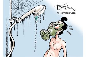 Was die Rohre absondern, kommt irgendwann aus dem Wasserhahn. Oder der Dusche. Auch Geruch. Das ist einfach so…