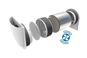 """Der """"Zewo Air SmartFan"""" war bereits serienmäßig sensorvorbereitet Jetzt kann der neue Sensor für Feuchte- und Wärmeregulierung per Steckverbindung nachgerüstet werden."""