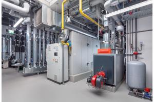 Ein Blockheizkraftwerk stellt die benötigte Energie für verschiedene Prozesse im Unternehmen bereit.