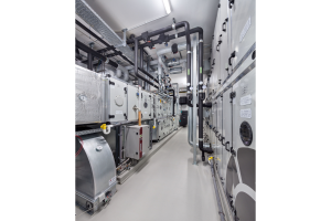 Die Steuerung der Raumlufttechnik erfolgt über die Luftzentrale.