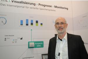 """Mit """"Amperix"""" hat das Fraunhofer-Institut für Techno- und Wirtschaftsmathematik ITWM in Kaiserslautern ein vielseitig einsetzbares Energiemanagementsystem entwickelt, das Dr. Franz-Josef Pfreundt vorstellte."""