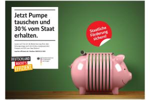 """Werbung für die Initiative """"Deutschland macht's effizient""""."""