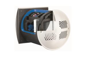 Die Wärmerückgewinnung in diesem Lüftungsgerät von Benzing der Reihe WRGW 60 erfolgt über den integrierten Aluminium-Kreuzstrom-Wärmeübertrager.