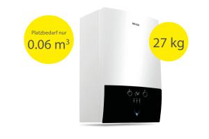 """Der neue """"ROTEX GW smart"""" gehört zu den kleinsten und leichtesten Gas-Brennwertkesseln seiner Klasse."""