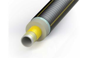 """Enerpipe-""""FibreFLEX"""": Ein mit Aramidfaser verstärktes Kunststoffrohr für Druckbelastungen  bis 10 bar bei 95 °C."""