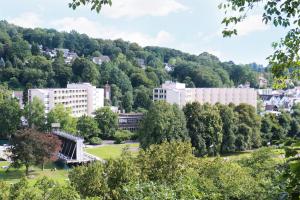 Die Rehaklinik Carolinum in Bad Karlshafen aus der Ferne.