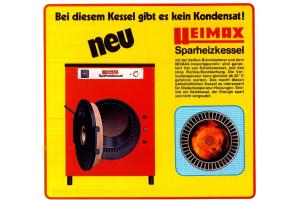 Werbeanzeige für Heizkessel aus den 70ern.