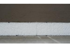 Dämmmaterial für Fußbodenheizungen.