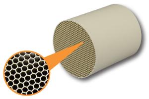 Ein Keramik-Wärmeübertrager.