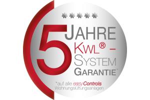 """Banner der """"5-Jahre-KWL""""-Systemgarantie."""