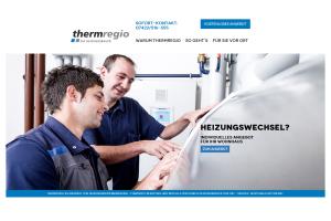 Screenshot der Startseite des Internetportals thermregio.de.