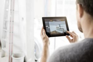 """Ansicht von """"Palette@Home"""" auf einem Tablet."""