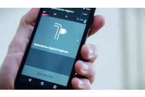"""Die Grundfos-App """"GO Balance"""" für den hydraulischen Abgleich auf einem Smartphone-Bildschirm."""