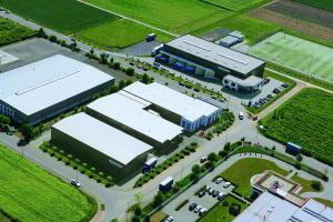Luftaufnahme des Geländes der Firma Zewotherm.