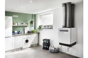 """Das """"profi-air""""-System für die Kontrollierte Wohnraumlüftung in einem Hauswirtschaftsraum."""