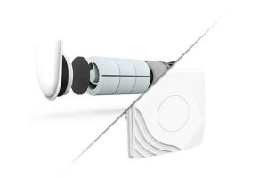 """Außenluftdurchlass-System von getAir und Abluftsystem """"SmartFan XR""""."""