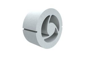 Ein getAir-Schalldämmring besteht aus drei Kammern. Jede Kammer lässt sich separat öffnen, um so flexibel auf Volumenstrom- und Schallanforderung reagieren zu können. Dadurch wird ein Volumenstrom von bis zu 31 m³ pro Stunde sowie eine Normschallpegeldifferenz von bis zu 70 dB erreicht.