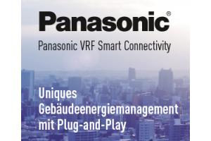 """Werbebanner für das neue """"Panasonic VRF Smart Connectivity""""-System."""