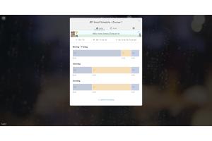 """Screenshot des """"Smart Schedule"""" eines Zimmers mit tado°-Thermostaten in der Web-App."""