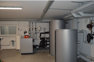Der Technikraum im Keller des Boardinghouses Niedernberg.