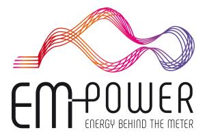 Das Logo der EM Power.
