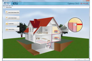 "Screenshot der Software ""Optimus Duo 3D"" von Hottgenroth."