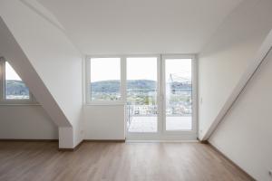 Ausblick aus einem Zimmer des Châlet Castelnau.