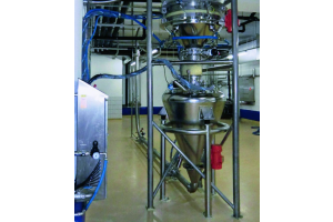 Pneumatischer Förderer für die Chemie-, Pharma- und Lebensmittelindustrie.
