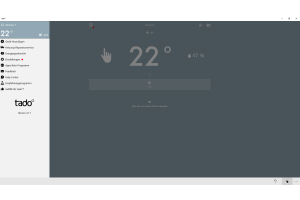 Screenshot des Menüs der tado°-App.
