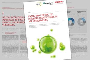 """Deckblatt des Berichts zur Studie """"Status und Perspektiven flüssiger Energieträger in der Energiewende""""."""