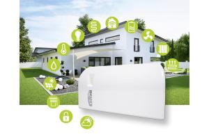 """Die Grafik veranschaulicht die unterschiedlichen Anwendungsgebiete des """"Kermi Smart Home""""."""