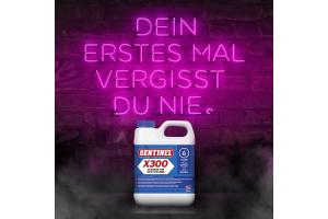 """Werbebanner für den """"Sentinel X300 Reiniger""""."""
