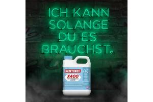 """Werbebanner für den """"Sentinel X400 Schlammentferner""""."""